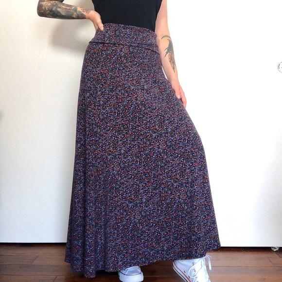 LuLaRoe Dresses & Skirts - LuLaRoe Floral Classic Maxi Skirt